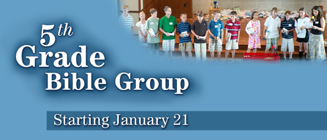 5th Grade Bible Group