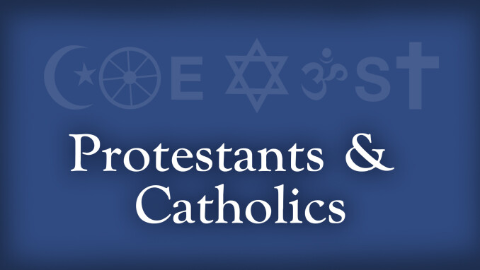 Coexist: Protestants and Catholics